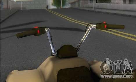 New Quad para GTA San Andreas vista posterior izquierda