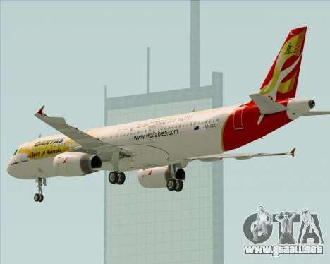 Airbus A321-200 Qantas (Wallabies Livery) para las ruedas de GTA San Andreas