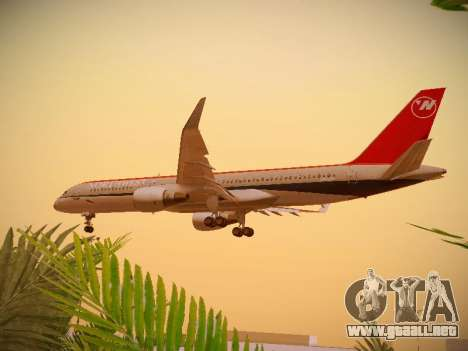 Boeing 757-251 Northwest Airlines para vista lateral GTA San Andreas
