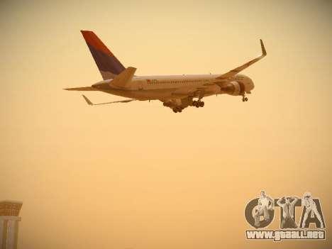 Boeing 757-232 Delta Airlines para vista inferior GTA San Andreas