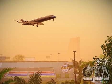 Bombardier CRJ-700 United Express para visión interna GTA San Andreas