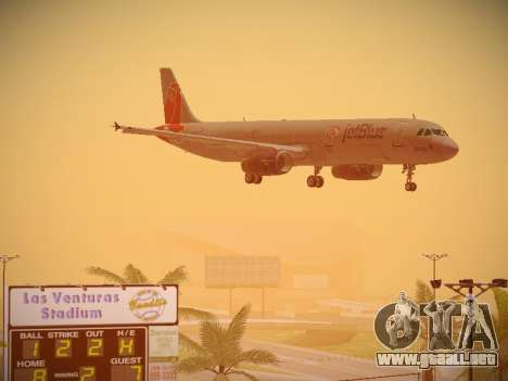 Airbus A321-232 jetBlue Boston Red Sox para la vista superior GTA San Andreas