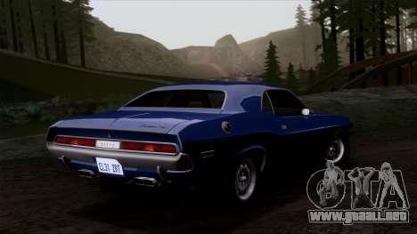Dodge Challenger 426 Hemi (JS23) 1970 (HQLM) para visión interna GTA San Andreas