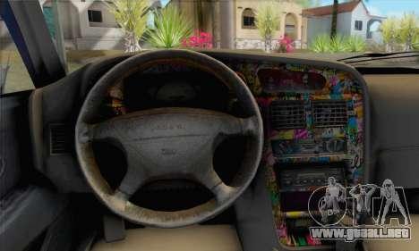 Proton Wira Slammed para GTA San Andreas vista posterior izquierda