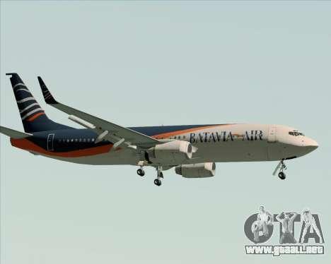 Boeing 737-800 Batavia Air (New Livery) para GTA San Andreas vista hacia atrás
