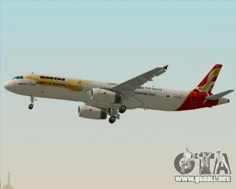 Airbus A321-200 Qantas (Wallabies Livery) para el motor de GTA San Andreas