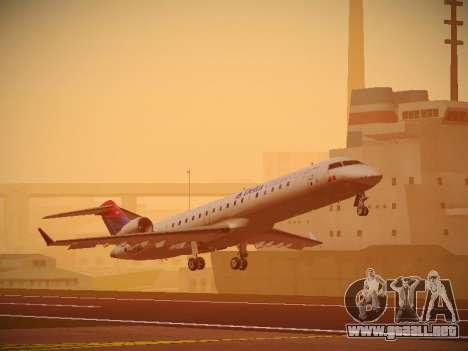 Bombardier CRJ-700 Delta Connection para GTA San Andreas left