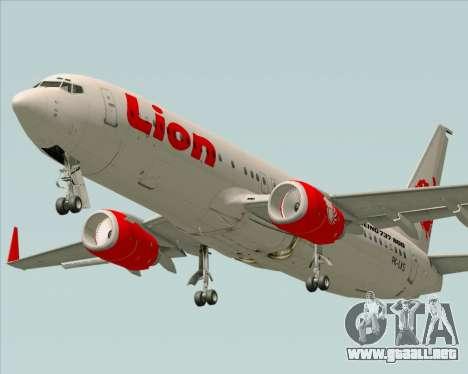 Boeing 737-800 Lion Air para la visión correcta GTA San Andreas
