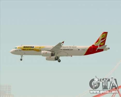 Airbus A321-200 Qantas (Wallabies Livery) para la visión correcta GTA San Andreas