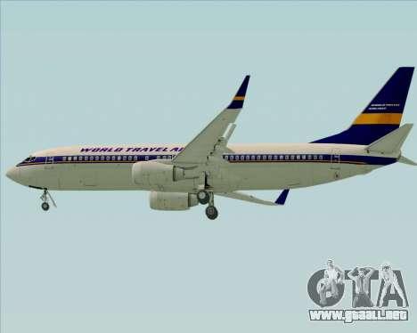 Boeing 737-800 World Travel Airlines (WTA) para la vista superior GTA San Andreas