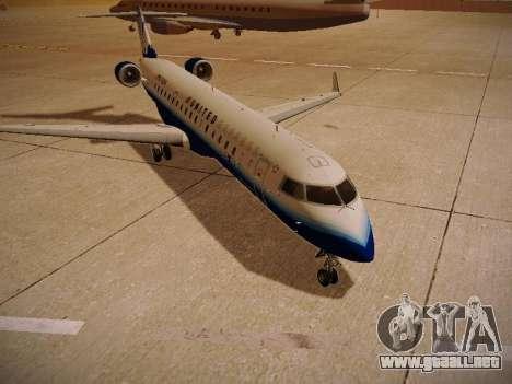 Bombardier CRJ-700 United Express para GTA San Andreas vista hacia atrás