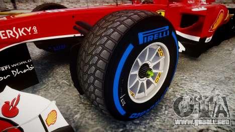 Ferrari F138 v2.0 [RIV] Alonso TFW para GTA 4 vista hacia atrás