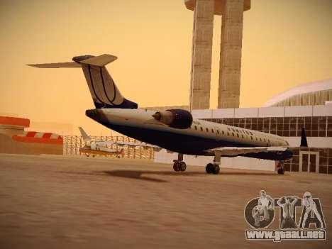 Bombardier CRJ-700 United Express para GTA San Andreas vista posterior izquierda