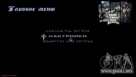Las pantallas de carga para GTA San Andreas octavo de pantalla