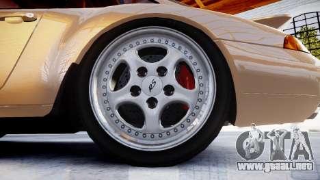 Porsche 911 Carrera RS 993 1995 para GTA 4 vista hacia atrás