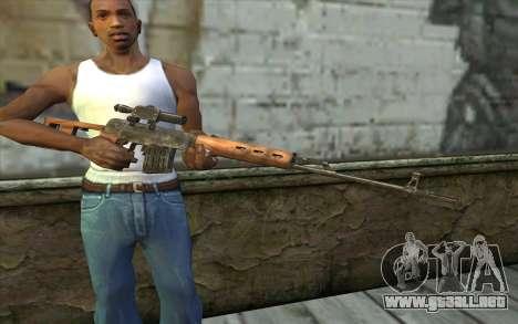СВД (Battlefield: Vietnam) para GTA San Andreas tercera pantalla