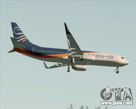 Boeing 737-800 Batavia Air (New Livery) para la vista superior GTA San Andreas