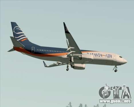 Boeing 737-800 Batavia Air (New Livery) para la vista superior GTA San Andreas