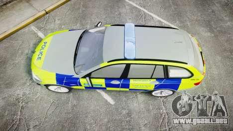 BMW 530d F11 Metropolitan Police [ELS] para GTA 4 visión correcta