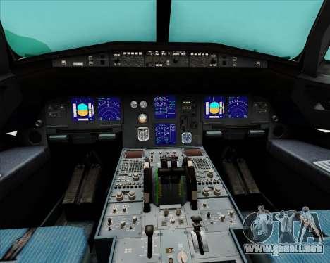 Airbus A321-200 Qantas (Wallabies Livery) para GTA San Andreas interior