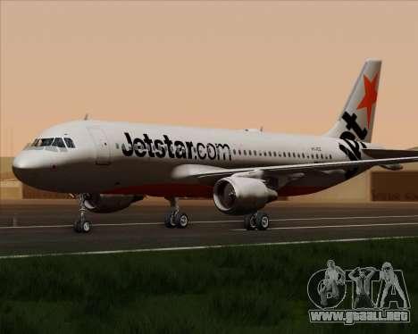 Airbus A320-200 Jetstar Airways para GTA San Andreas vista hacia atrás