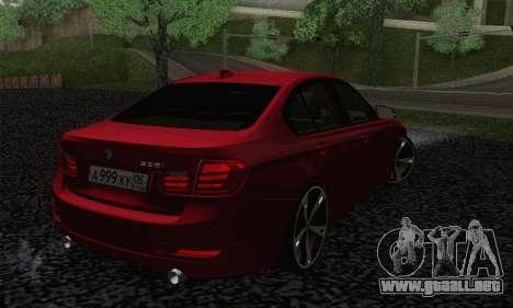 BMW 3 Series F30 2013 para GTA San Andreas left