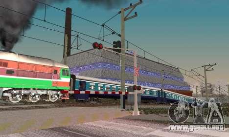 Nuevas texturas para el tráfico ferroviario para GTA San Andreas sucesivamente de pantalla