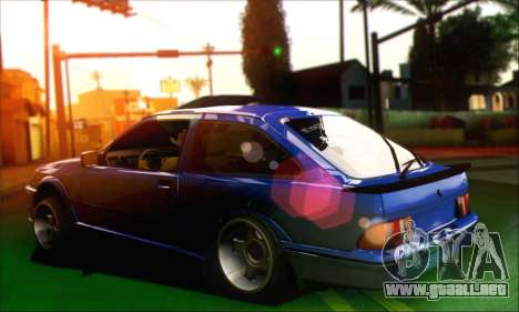 Ford Sierra Stanced para GTA San Andreas left