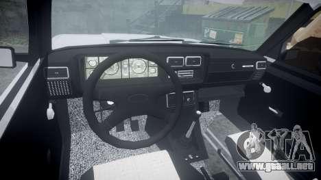ВАЗ-2107 Avtosh Estilo para GTA 4 vista hacia atrás