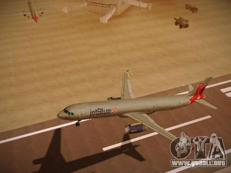 Airbus A321-232 jetBlue Boston Red Sox para visión interna GTA San Andreas