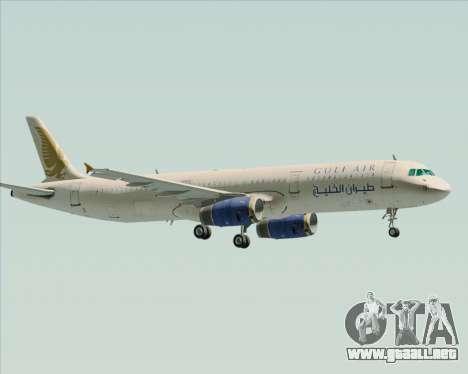 Airbus A321-200 Gulf Air para visión interna GTA San Andreas