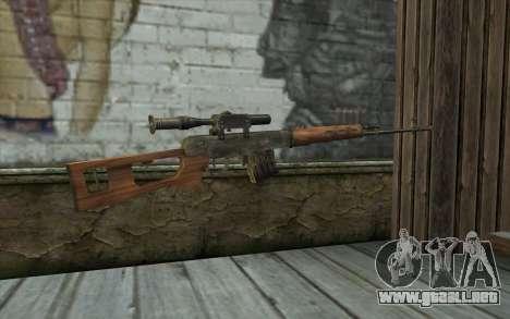 СВД (Battlefield: Vietnam) para GTA San Andreas segunda pantalla