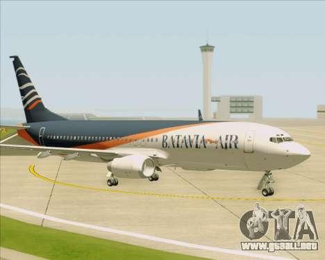 Boeing 737-800 Batavia Air (New Livery) para vista inferior GTA San Andreas