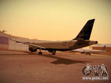 Airbus A321-232 Lets talk about Blue para GTA San Andreas vista posterior izquierda