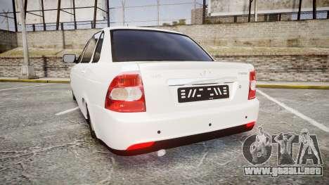 VAZ-Lada Priora 2170 para GTA 4 Vista posterior izquierda