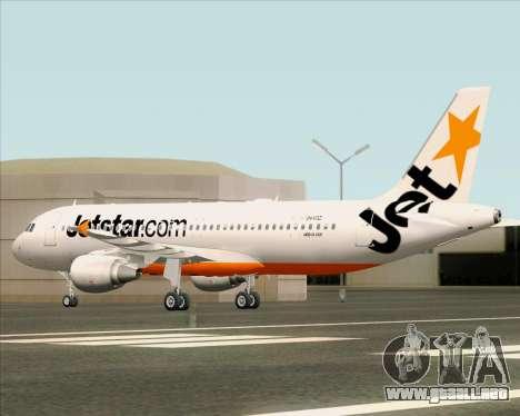 Airbus A320-200 Jetstar Airways para la vista superior GTA San Andreas