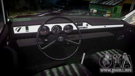 Dacia 1300 para GTA 4 vista hacia atrás