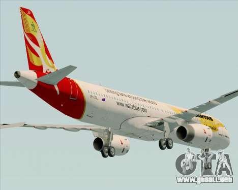 Airbus A321-200 Qantas (Wallabies Livery) para la vista superior GTA San Andreas
