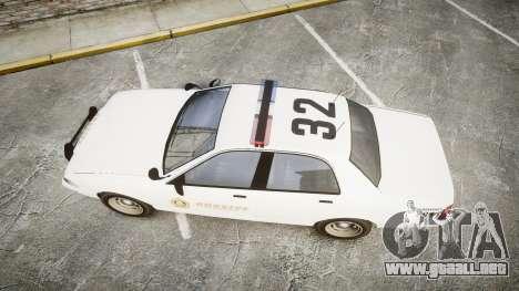 GTA V Vapid Cruiser LSS White [ELS] para GTA 4 visión correcta