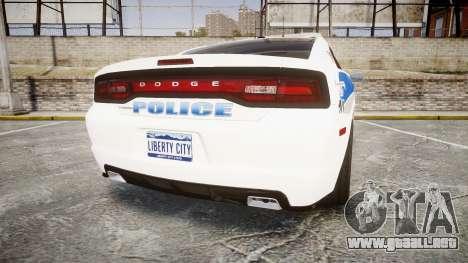 Dodge Charger RT 2013 PS Police [ELS] para GTA 4 Vista posterior izquierda