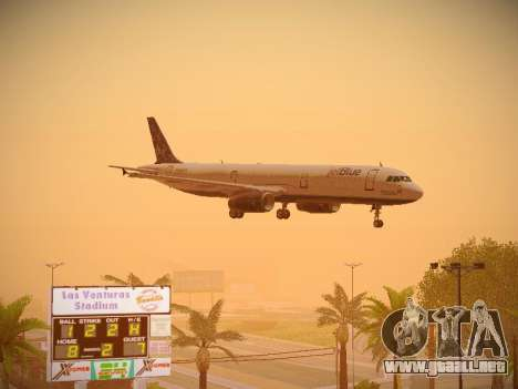 Airbus A321-232 Lets talk about Blue para GTA San Andreas interior