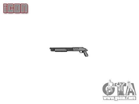 Riot escopeta Mossberg 500 icon1 para GTA 4 tercera pantalla