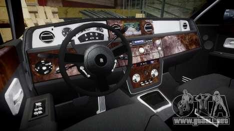 Rolls-Royce Phantom EWB para GTA 4 vista hacia atrás