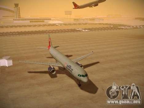 Airbus A321-232 jetBlue Boston Red Sox para GTA San Andreas vista hacia atrás