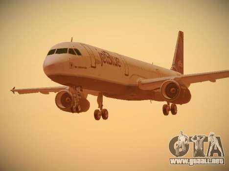 Airbus A321-232 jetBlue Red White and Blue para GTA San Andreas left