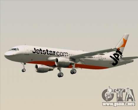 Airbus A320-200 Jetstar Airways para vista inferior GTA San Andreas