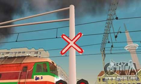 Nuevas texturas para el tráfico ferroviario para GTA San Andreas tercera pantalla