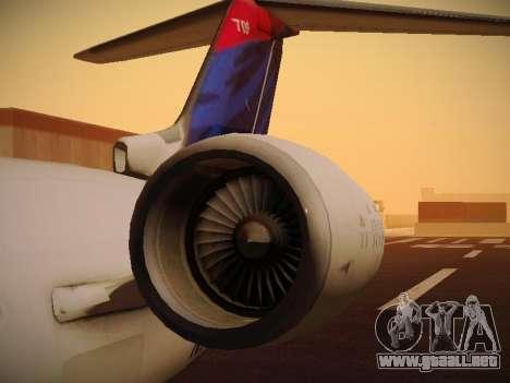 Bombardier CRJ-700 Delta Connection para la vista superior GTA San Andreas