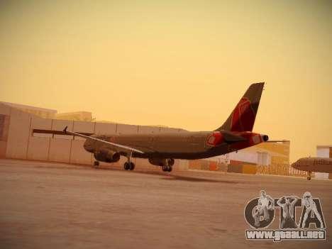 Airbus A321-232 jetBlue Boston Red Sox para GTA San Andreas vista posterior izquierda