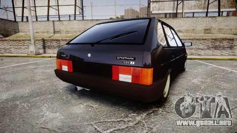VAZ-2109 escorrentía para GTA 4 Vista posterior izquierda